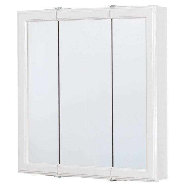 glacier bay 24 in. w x 25 in. h framed surface-mount tri-view
