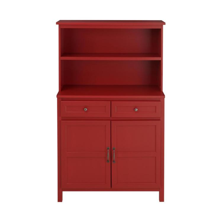 Stylewell Stylewell Chili Red Wood Transitional Kitchen Pantry 36 In W X 58 In H Sk19311ar1 C The Home Depot
