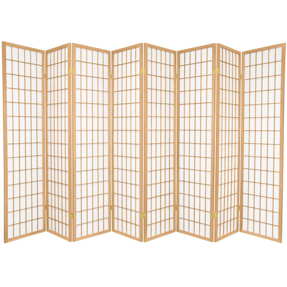 Oriental Furniture 6 Ft Natural 8 Panel Room Divider Sscwp 8p Nat The Home Depot