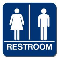 Image result for restroom sign