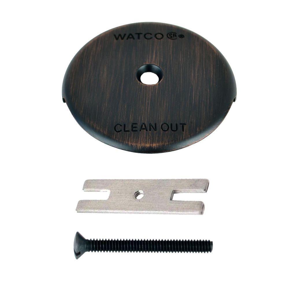 Watco 1 Hole Bathtub Overflow Plate Kit Oil Rubbed Bronze