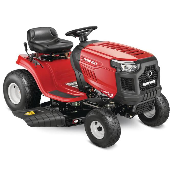 Pony 42 in. 17.5 hp Manual Drive Briggs and Stratton Gas Lawn Tractor Riding Mower with 7 speeds and Mow in Reverse