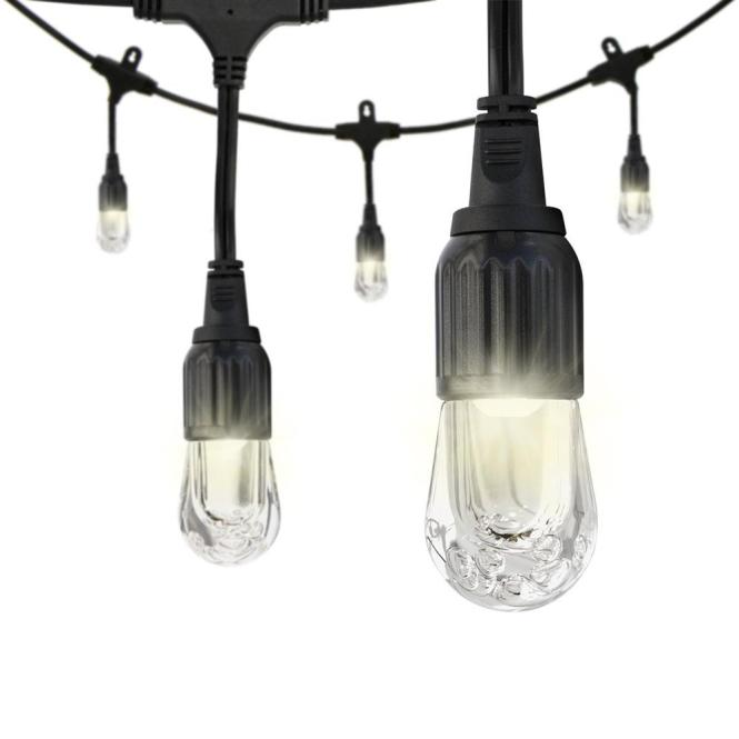 Black Integrated Led Cafe String Light