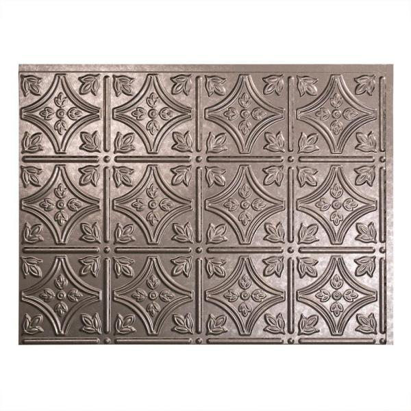 Fasade 24 in  x 18 in  Traditional 1 PVC Decorative Backsplash Panel     Fasade 24 in  x 18 in  Traditional 1 PVC Decorative Backsplash Panel in  Galvanized