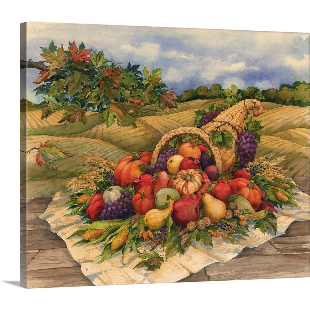 Greatbigcanvas Harvest Cornucopia By Paul Brent Canvas Wall Art 2384513 24 24x20 The Home Depot