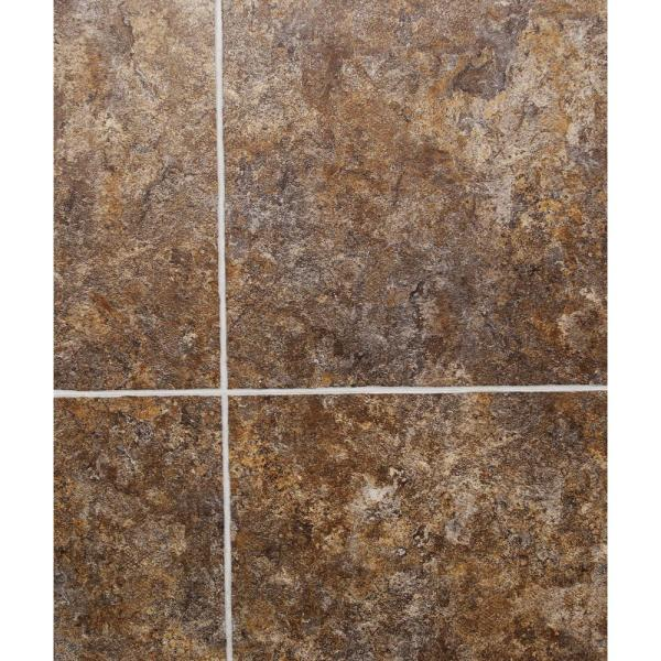 Floating Interlocking   Luxury Vinyl Tile   Vinyl Flooring     Hydri Core 18 in  x 36 in  Crestaceous Fossil Grouted Embossed HDPC Vinyl