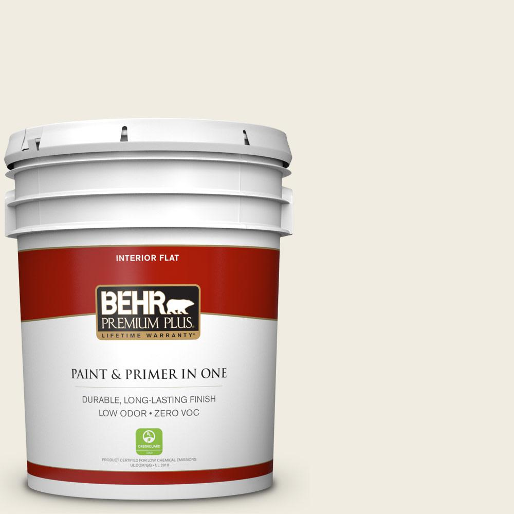 Behr Premium Plus 5 Gal 12 Swiss Coffee Flat Interior Paint