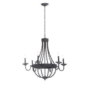 Hampton Bay Barcelona 6 Light Rustic Iron Chandelier Gty9116a 2 The Home Depot