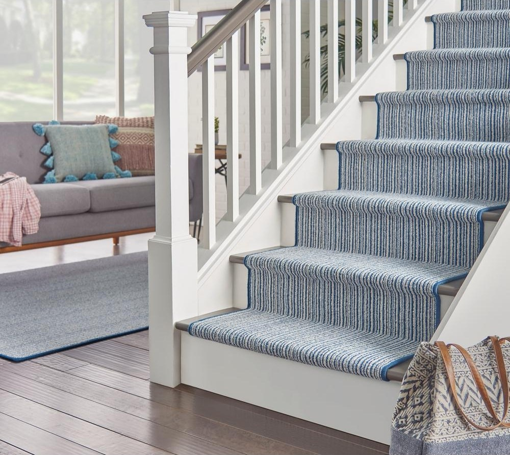 Natural Harmony Skyway Color Victoria 12 Ft Pattern Carpet   Grey Patterned Carpet For Stairs   Fitting Loop Pile Carpet   Room Matching Str*P   Middle Open Concept   Runners   Living Room