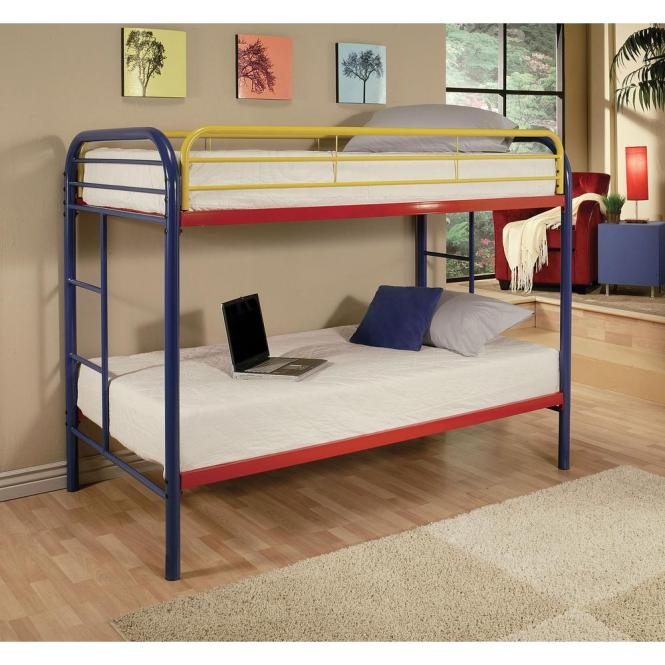 Acme Furniture Thomas Twin Over Metal Kids Bunk Bed 02188rnb The Home Depot