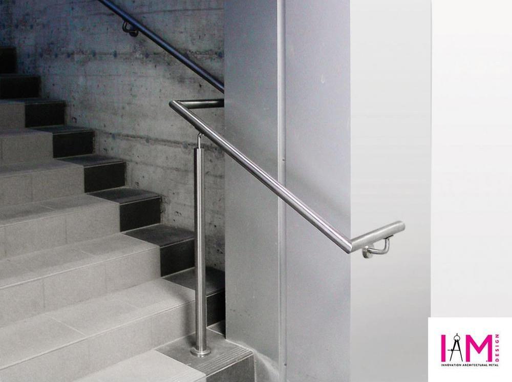 Iam Design Stainless Steel Handrail Support With Concealed Scr*W | Stainless Steel Handrail Designs | Balustrade | Supplier | Steel Ordinary | Standard Steel | Simple