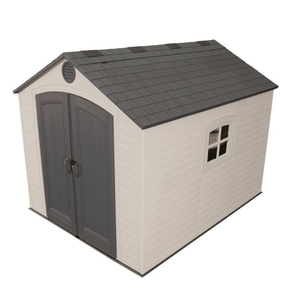Lifetime Installed 8 ft  x 10 ft  Outdoor Storage Plastic Shed     Lifetime Installed 8 ft  x 10 ft  Outdoor Storage Plastic Shed