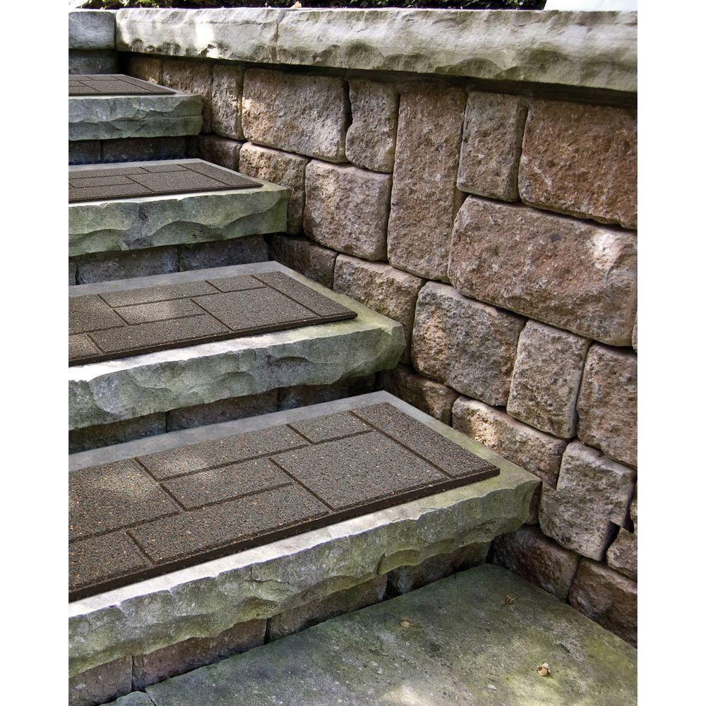 Envirotile Cobblestone 10 In X 24 In Earth Stair Tread 4 Pack | Outdoor Stone Stair Treads | Deck | Curved | Backyard | Unique | Stone Veneer