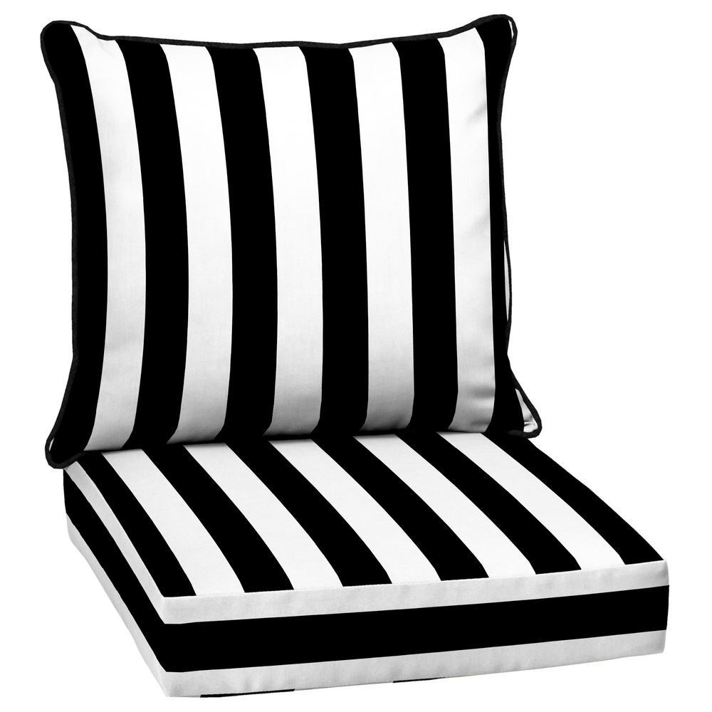 mobel black white striped outdoor deep