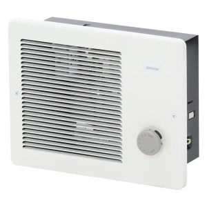 Electric Space Heater Wall Mount Recessed Bathroom Laundry