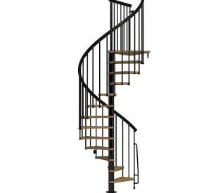 Arke Nice1 51 In Black Spiral Staircase Kit K50106 The Home Depot | Cast Iron Spiral Staircase Cost | Balcony | Stair Parts | Stainless Steel | Low Cost | Shenzhen
