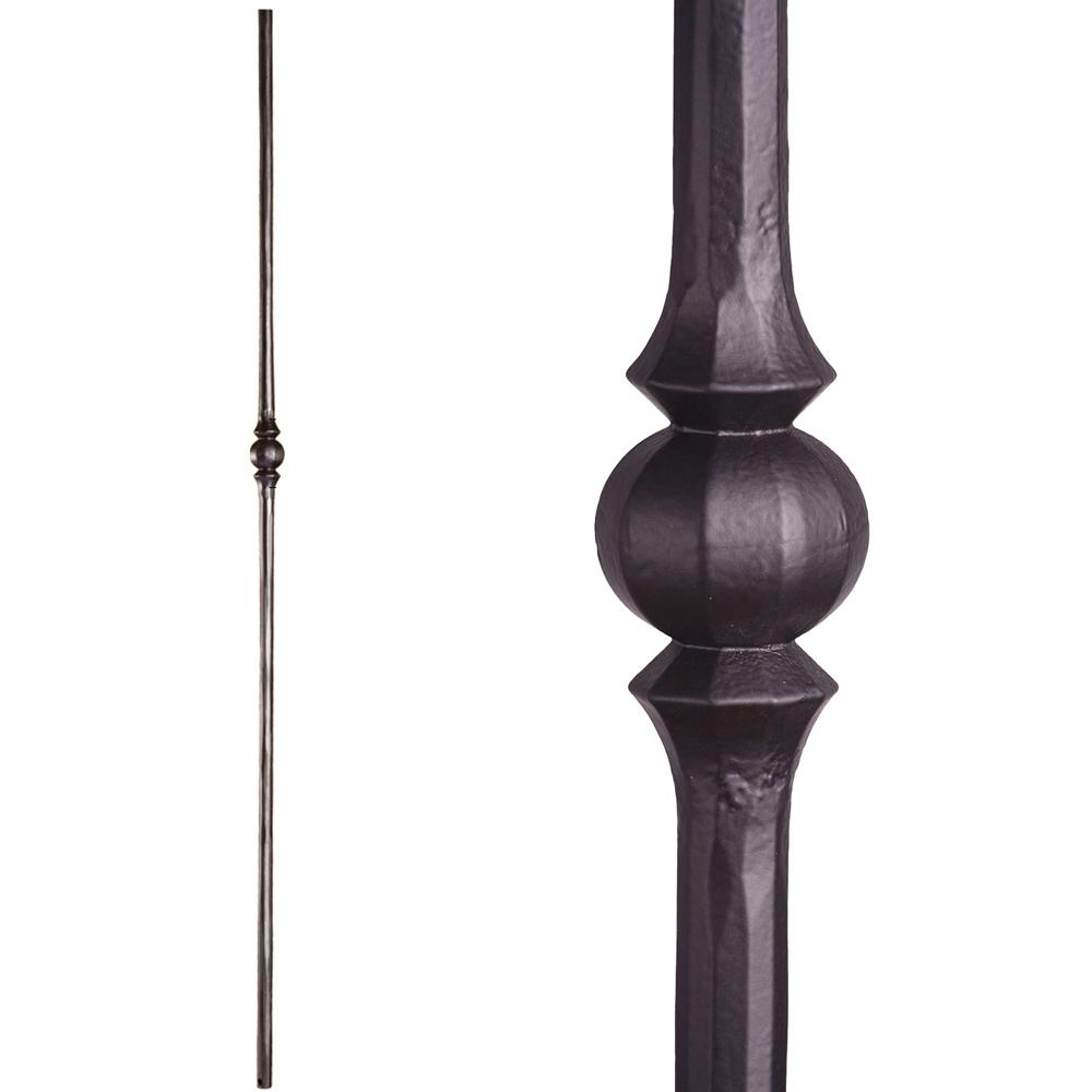House Of Forgings Tuscan Round Hammered 44 In X 5625 In Satin   House Of Forgings Balusters   Wentworth   Hand Forged   Custom   Versatile Series   Marquise