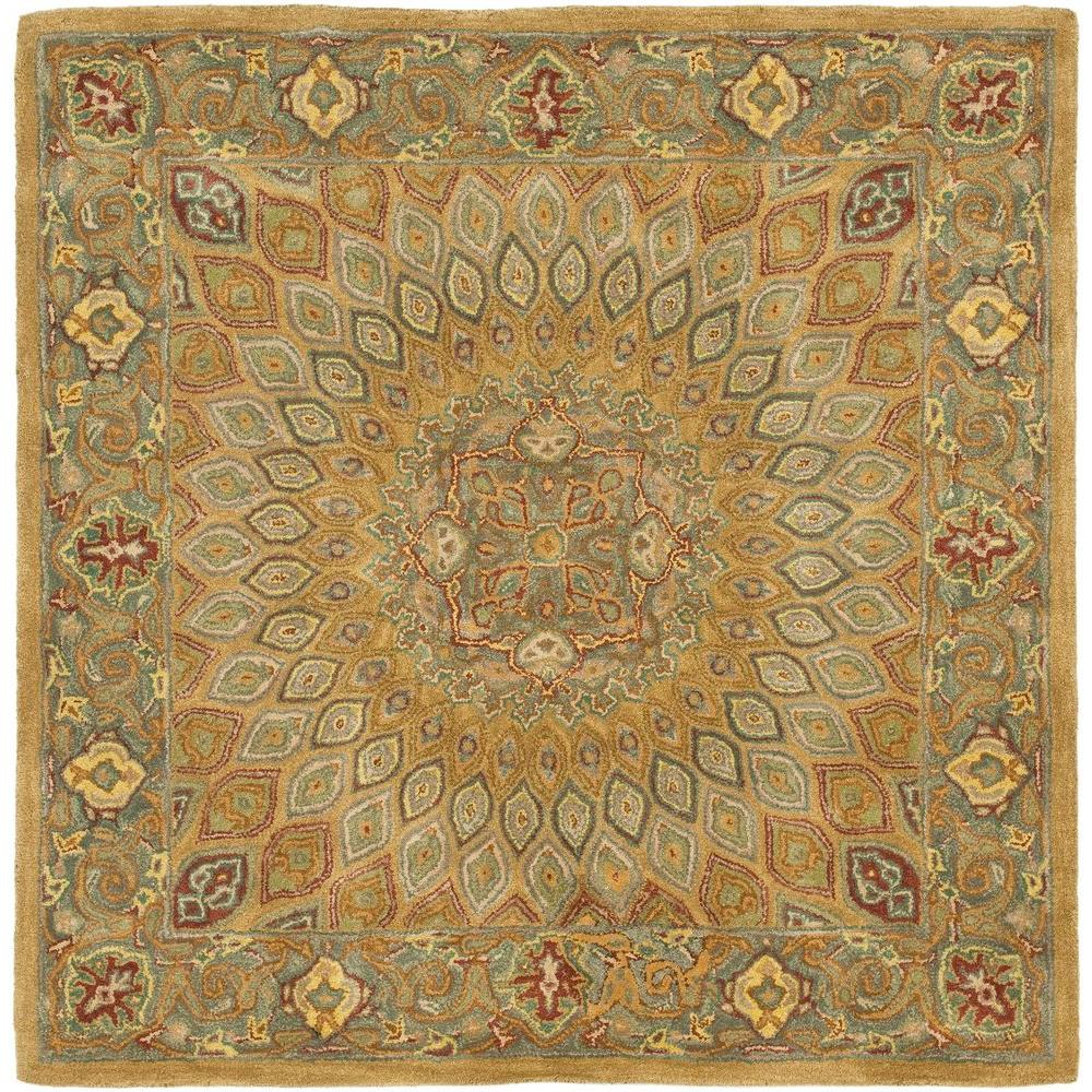 safavieh heritage light brown grey 8 ft x 8 ft square area rug hg914a 8sq the home depot