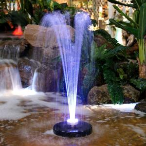 Alpine Floating Spray Fountain With 48 Led Light And 550