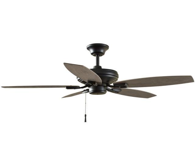 Hampton Bay North Pond  In Indoor Outdoor Matte Black Ceiling Fan