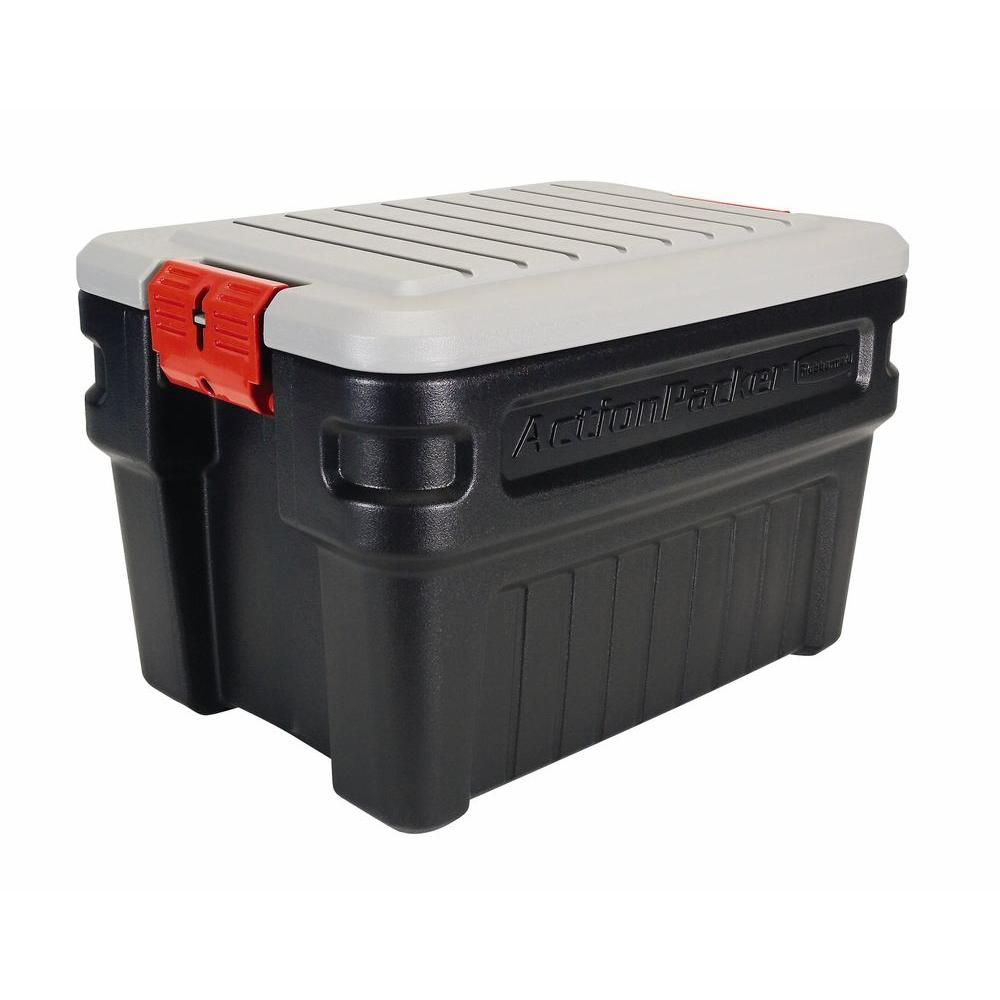Rubbermaid 24 Gal Action Packer Storage Box RMAP240000