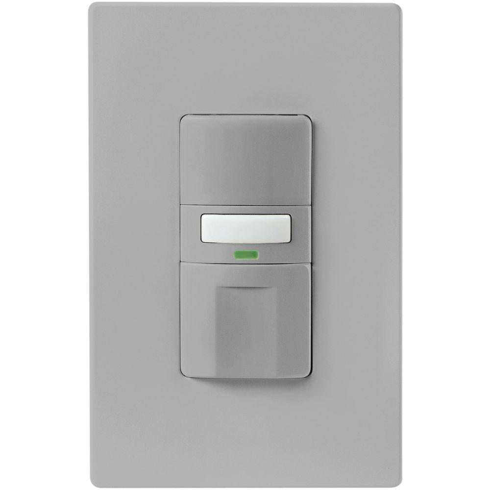 Eaton Motion Activated Occupancy Sensor Wall Switch Gray OS310U GY K The Home Depot