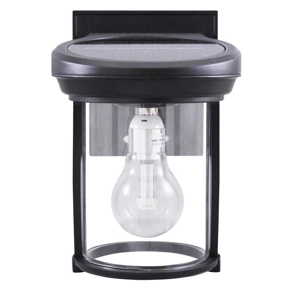 Solar Coach 1 Light Black Outdoor Wall Lantern
