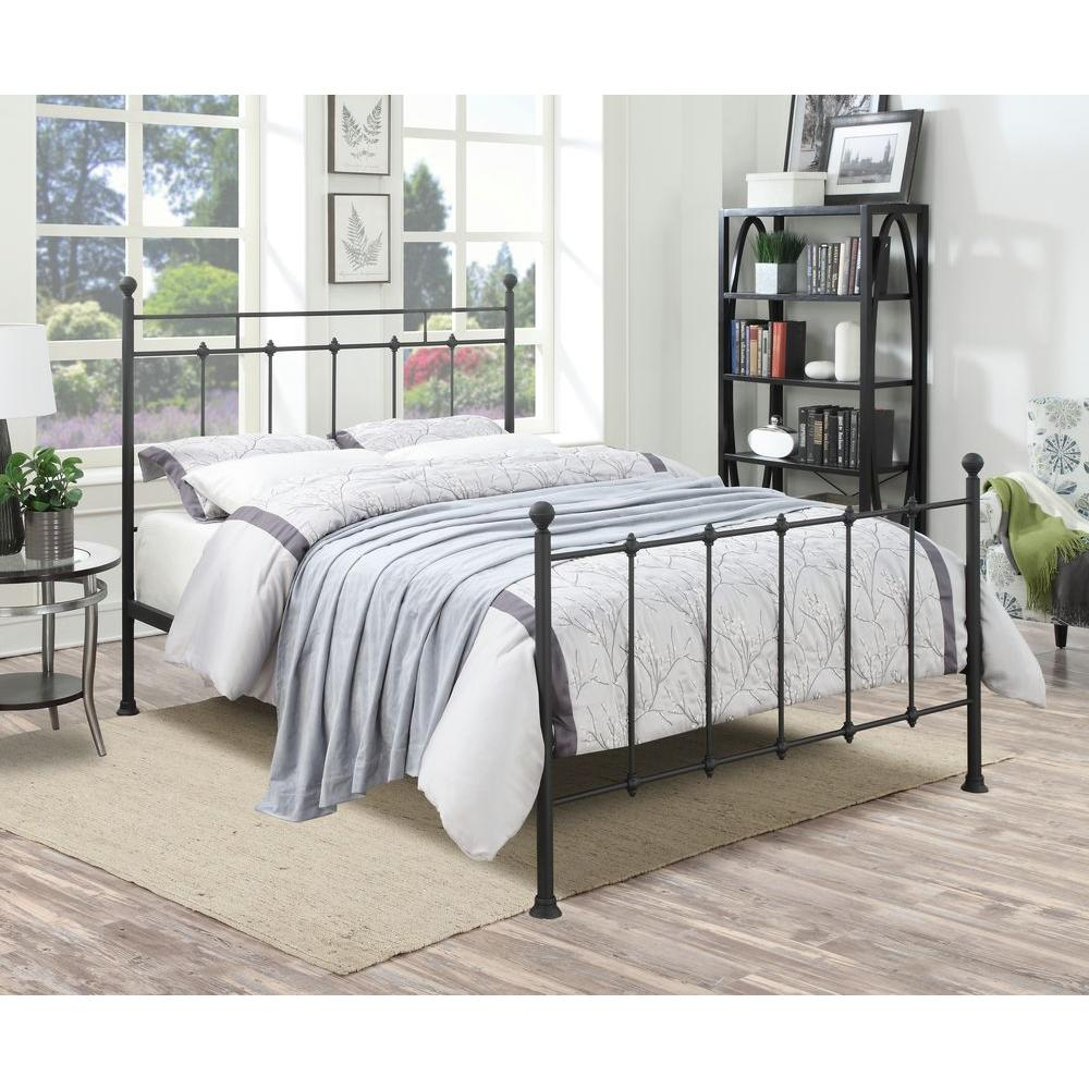 PRI All in 1 Black Queen Bed Frame DS 2644 290   The Home Depot PRI All in 1 Black Queen Bed Frame