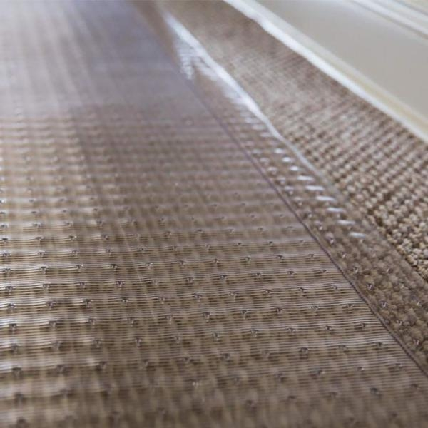 Es Robbins Clear 27 In X 10 Ft Vinyl Ribbed Rug Runner 184013 | Home Depot Rug Runners By The Foot | Area Rugs | Regent Tan | Plastic | Carpet Protector | Mat
