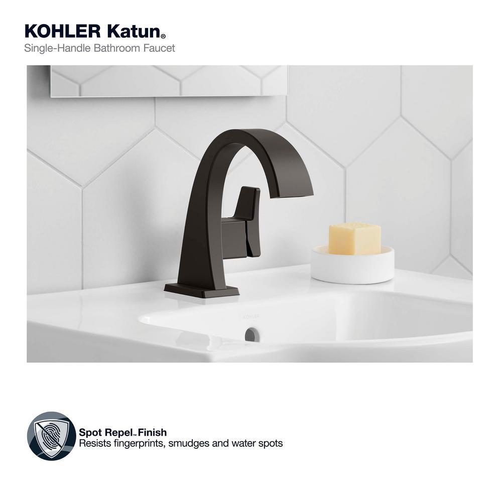 kohler black single hole bathroom