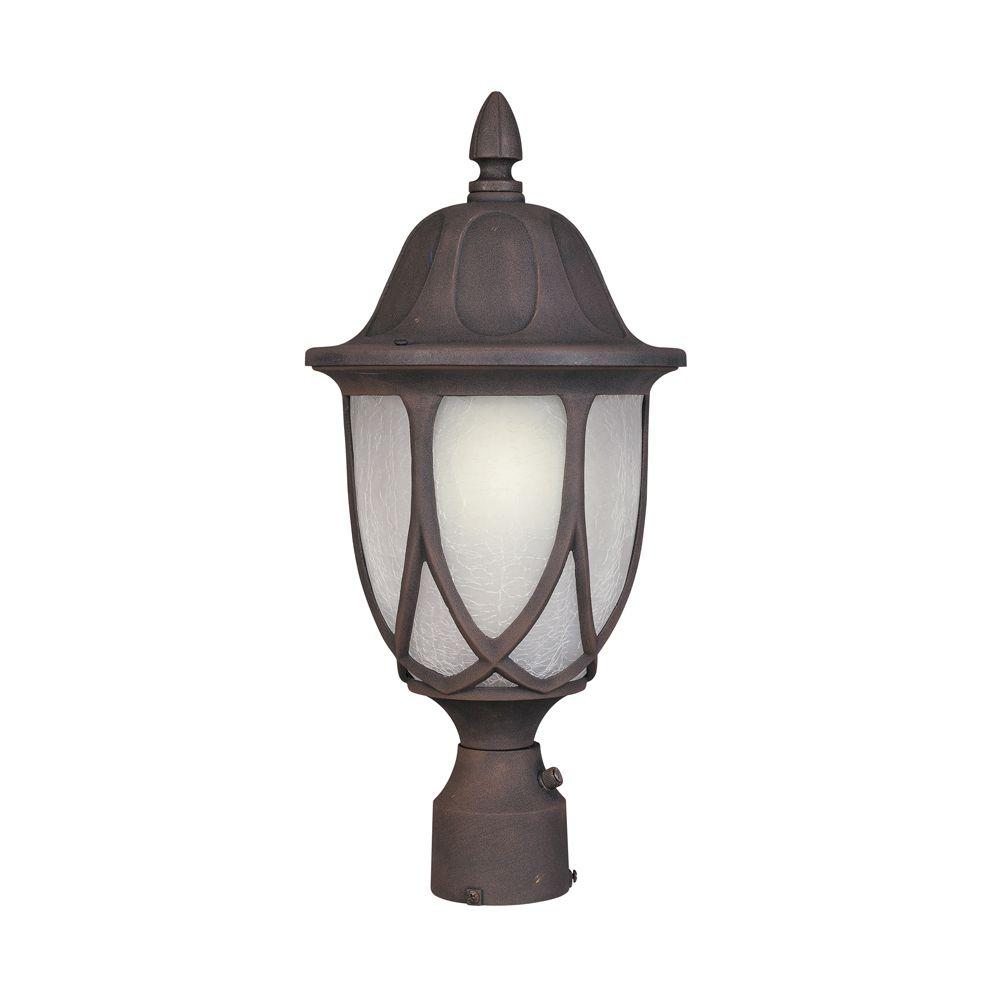 Designers Fountain Greenwood Autumn Gold Outdoor Post Lantern 2866 AG The Home Depot