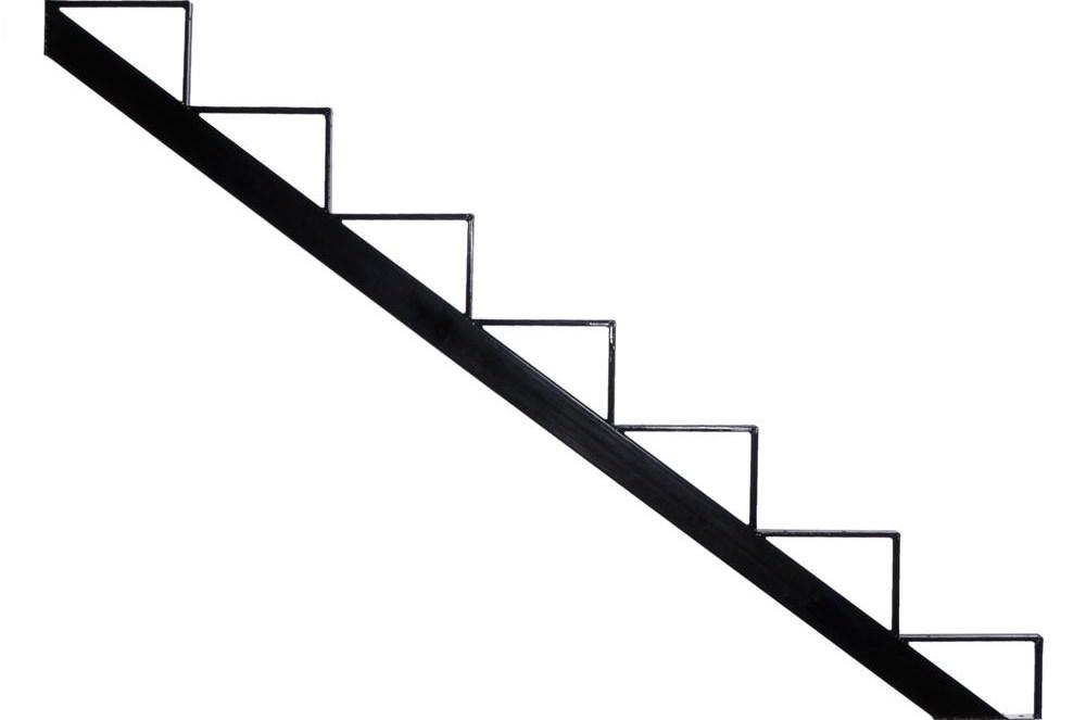 Pylex 7 Steps Steel Stair Stringer Black 7 1 2 In X 10 1 4 In   Hardwood Steps And Risers   Brown Stair   Carpet Tread   Bullnose   Maple   Dark Wood