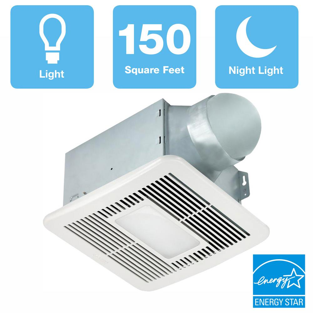 Delta Breez Smart Series 150 Cfm Ceiling Bathroom Exhaust Fan With