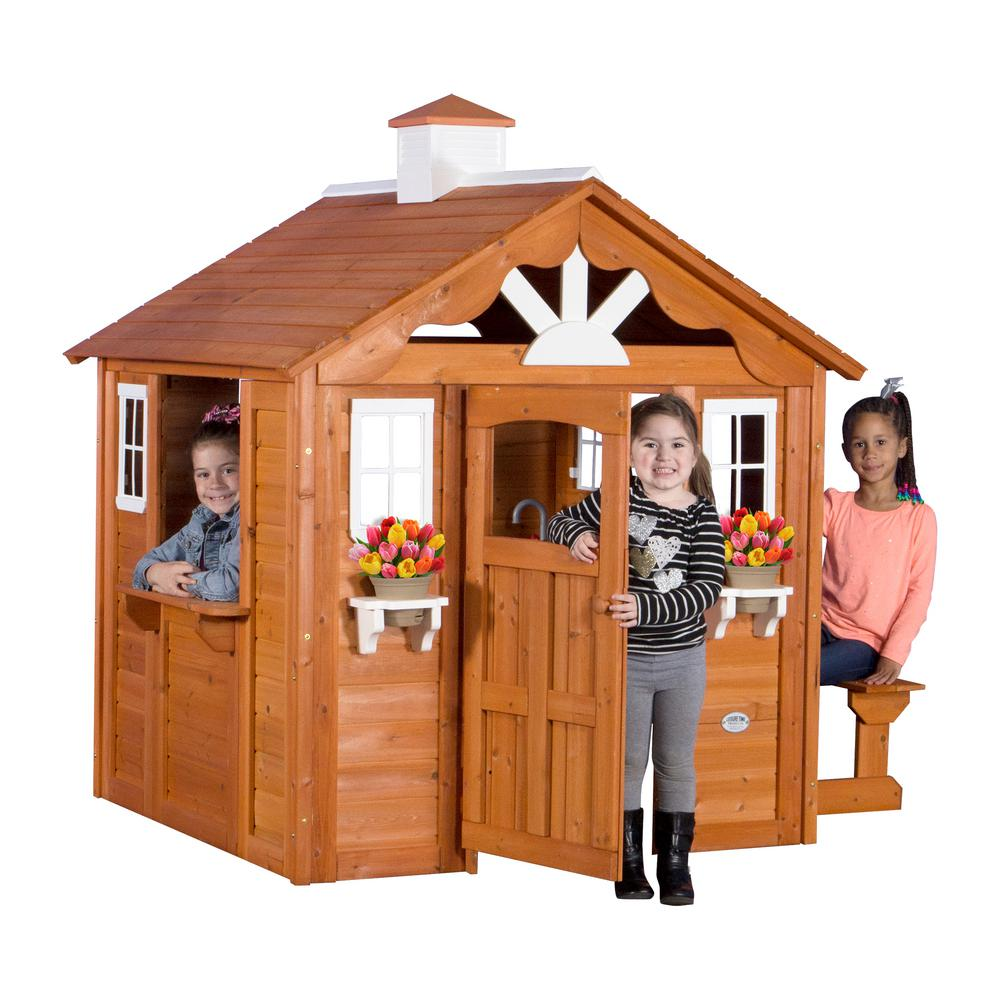 Backyard Discovery Summer Cottage All Cedar Playhouse