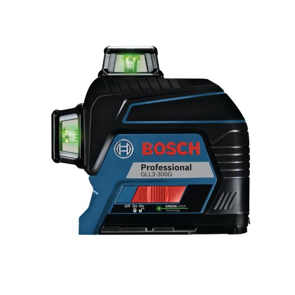 Bosch 200 Ft Self Leveling Green 360 Degree Laser Level Gll3 300g The Home Depot