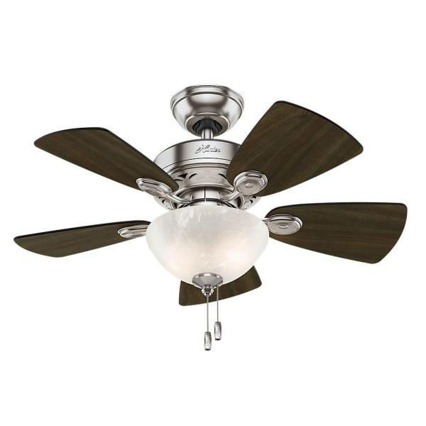 Hunter Watson 34 in  Indoor Brushed Nickel Ceiling Fan with Light     Hunter Watson 34 in  Indoor Brushed Nickel Ceiling Fan with Light Kit