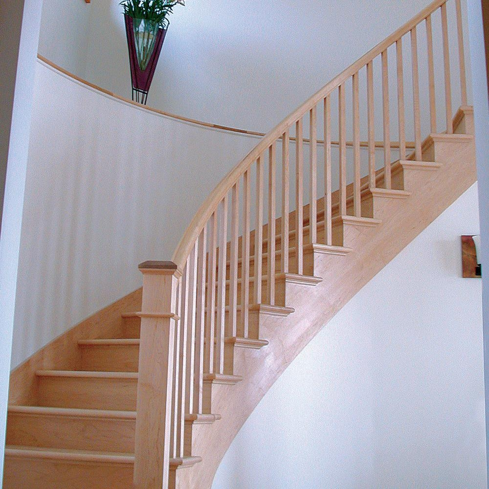 Stair Parts 43 In X 1 3 4 In 5360 Red Oak Full Square Baluster | Oak Handrails For Stairs Interior | Glass | Stair Treads | Oak Pointe | Wooden | Stair Parts