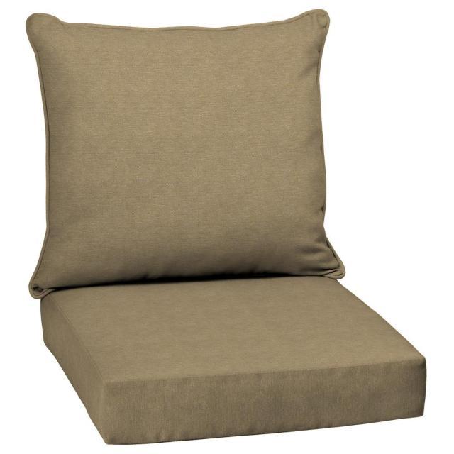 hampton bay - outdoor chair cushions - outdoor cushions - the home depot