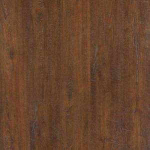 Red   Laminate Wood Flooring   Laminate Flooring   The Home Depot Outlast  Auburn Scraped Oak 10 mm Thick x 6 1 8 in  Wide