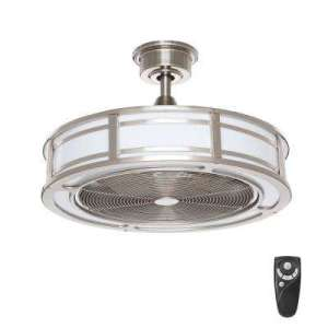 Ceiling Fans With Lights   Ceiling Fans   The Home Depot Brette 23 in  LED Indoor Outdoor Brushed Nickel Ceiling Fan with Light