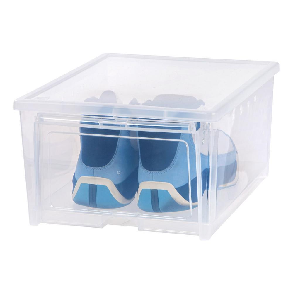 Iris 4 Pair Easy Access Men S Shoe Organizer Box 4 Pack