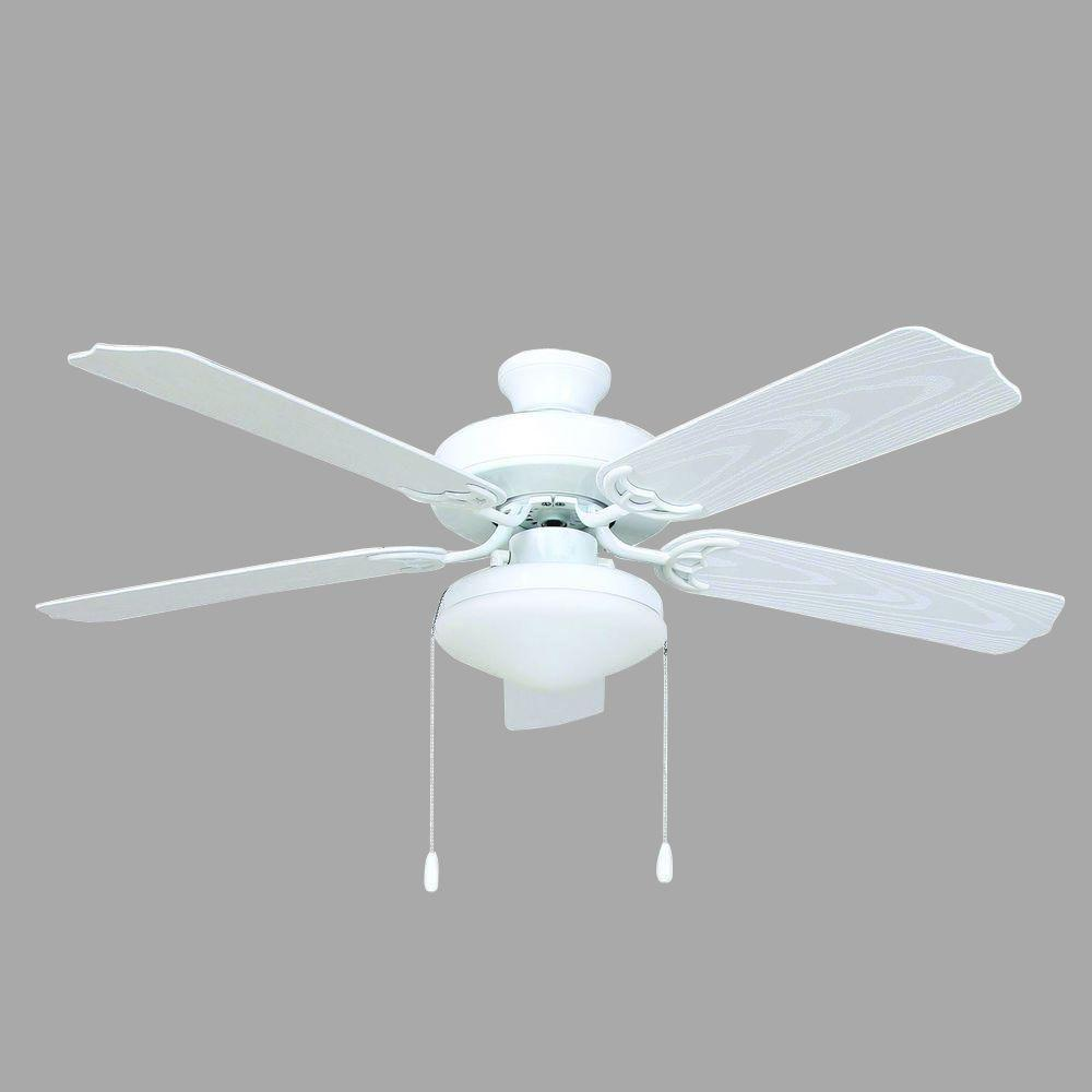 Yosemite Home Decor Patterson 52 in  White Outdoor Ceiling Fan with     Yosemite Home Decor Patterson 52 in  White Outdoor Ceiling Fan with 72 in   Lead