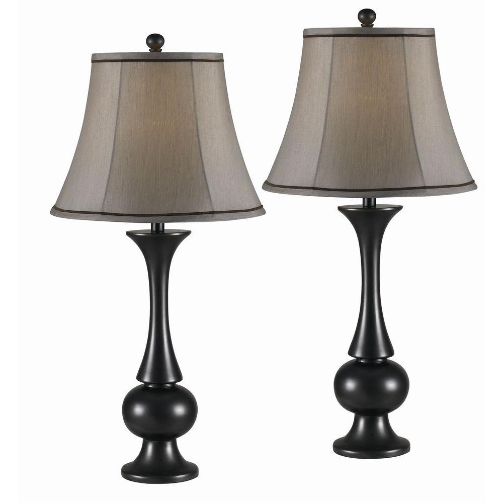 kenroy home abbott 29 in. metallic bronze table lamp set (2-pack