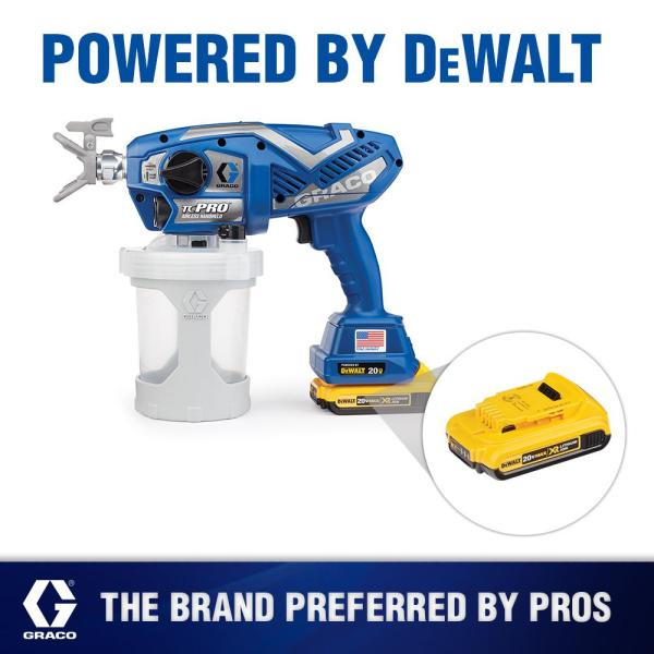 Graco Tc Pro Cordless Airless Paint Sprayer 17n166 The Home Depot