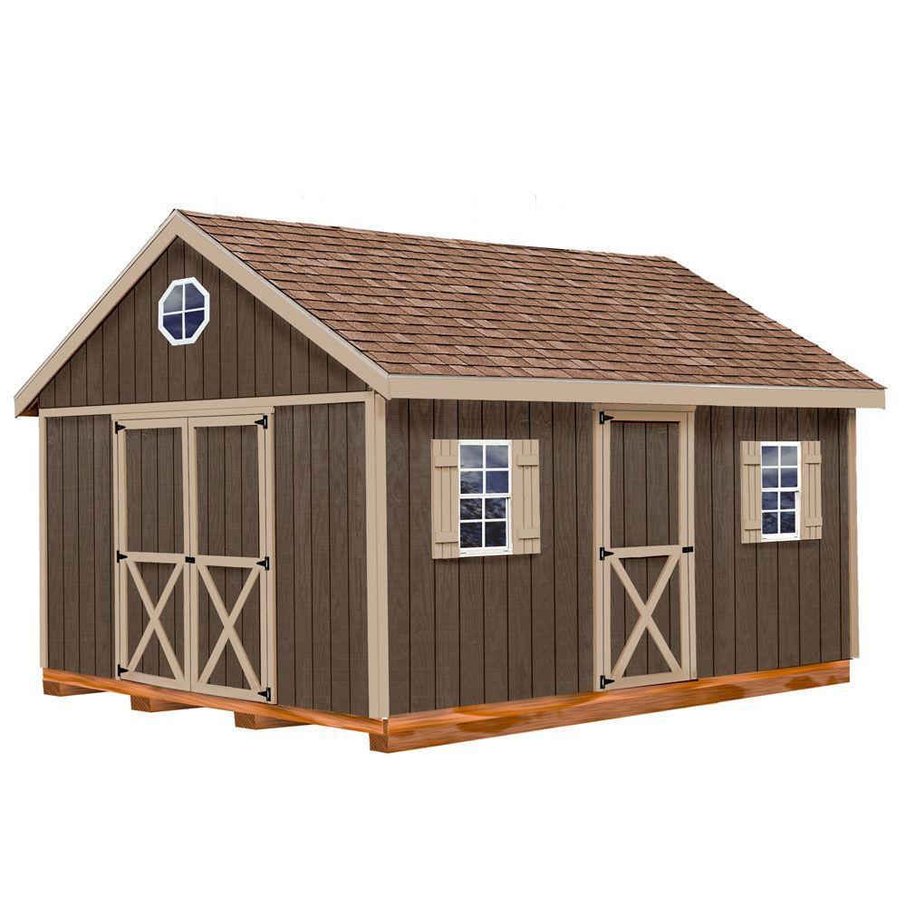 Best Barns Easton 12 Ft X 16 Ft Wood Storage Shed Kit