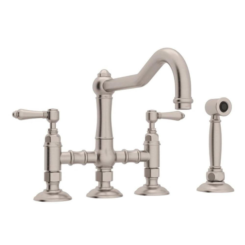 ROHL Country Kitchen 2 Handle Bridge Kitchen Faucet With