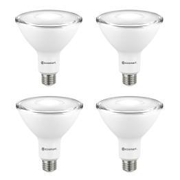 EcoSmart 90-Watt Equivalent PAR38 Non-Dimmable Flood LED Light Bulb Bright White (4-Pack)
