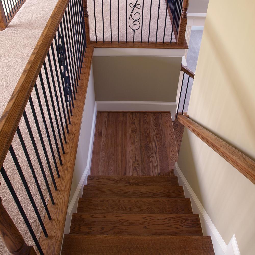 Stair Parts 96 In X 5 1 4 In Red Oak Landing Tread 6Lt0R 514   Hardwood Floor Stair Treads   Dark Oak   Hickory   Vinyl   Red Oak   Pergo Floor
