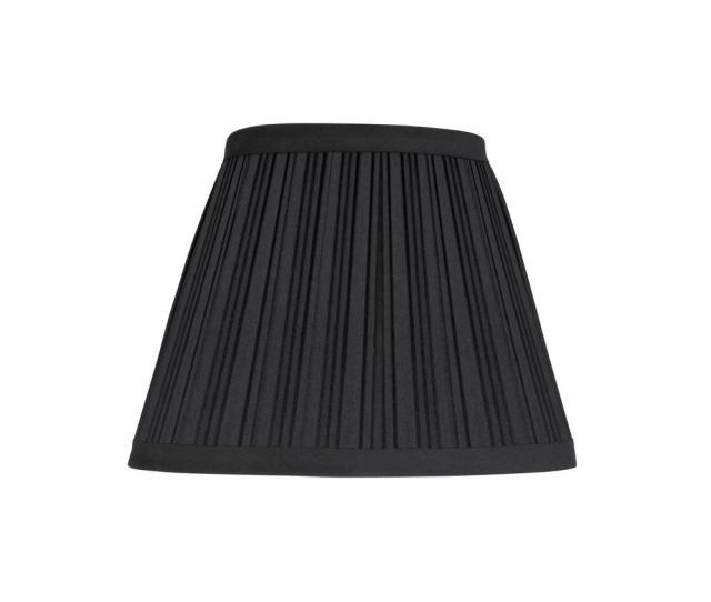 9 In X 7 In Black Hardback Pleated Empire Lamp Shade