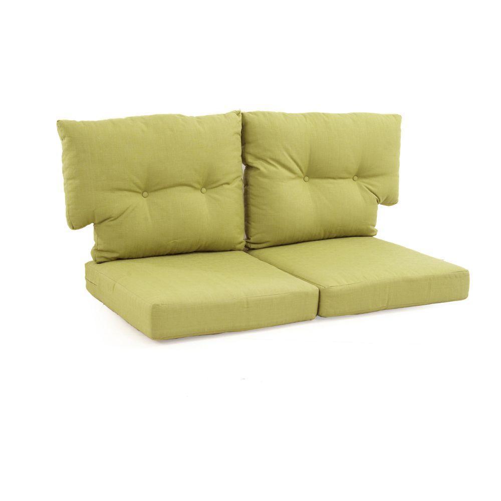 charlottetown green bean replacement outdoor loveseat cushion